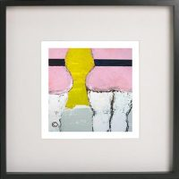 Black Framed Print with Abstract Art By Artist Sarah Jane - Cozzie IId