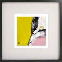Black Framed Print with Abstract Art By Artist Sarah Jane - Cozzie VIIId