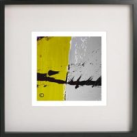 Black Framed Print with Abstract Art By Artist Sarah Jane - Cozzie VIIb