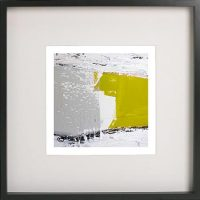 Black Framed Print with Abstract Art By Artist Sarah Jane - Cozzie Va
