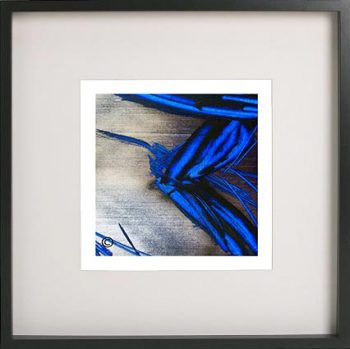 Black Framed Print with Abstract Art By Artist Sarah Jane - Faceless III