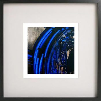 Black Framed Print with Abstract Art By Artist Sarah Jane - Faceless VI