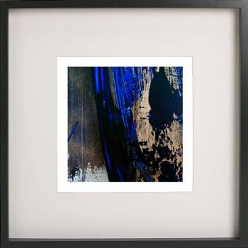 Black Framed Print with Abstract Art By Artist Sarah Jane - Faceless X