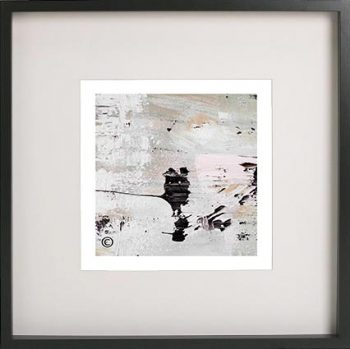 Black Framed Print with Abstract Art By Artist Sarah Jane - Feathers VIIa