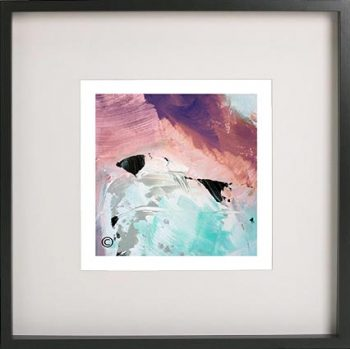 Black Framed Print with Abstract Art By Artist Sarah Jane - Feathers Va