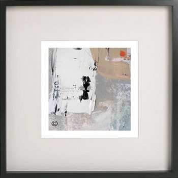 Black Framed Print with Abstract Art By Artist Sarah Jane - Feathers XIVa
