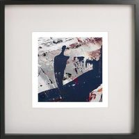 Black Framed Print with Abstract Art By Artist Sarah Jane - Feathers XVIIa