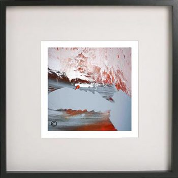 Black Framed Print with Abstract Art By Artist Sarah Jane - Freedom IIIa