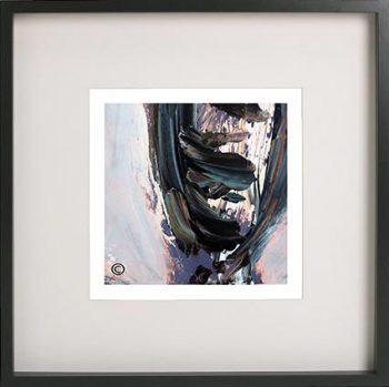 Black Framed Print with Abstract Art By Artist Sarah Jane - Freedom IXb