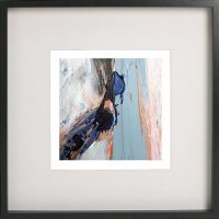 Black Framed Print with Abstract Art By Artist Sarah Jane - Freedom XVIIIa