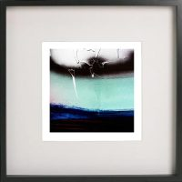 Black Framed Print with Abstract Art By Artist Sarah Jane - Hidden Truth V