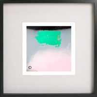 Black Framed Print with Abstract Art By Artist Sarah Jane - Hidden Truth Xb
