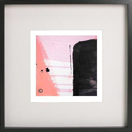Black Framed Print with Abstract Art By Artist Sarah Jane - Hope IVa