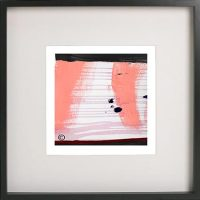 Black Framed Print with Abstract Art By Artist Sarah Jane - Hope VIIa