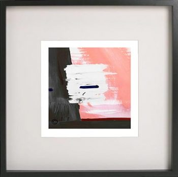 Black Framed Print with Abstract Art By Artist Sarah Jane - Hope VIa
