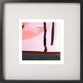 Black Framed Print with Abstract Art By Artist Sarah Jane - Hope Va flipped horizontally