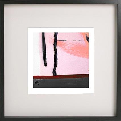 Black Framed Print with Abstract Art By Artist Sarah Jane - Hope Va