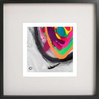 Black Framed Print with Abstract Art By Artist Sarah Jane - Noisy Mind X