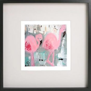 Black Framed Print with Abstract Art By Artist Sarah Jane - On the Move II