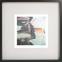 Black Framed Print with Abstract Art By Artist Sarah Jane - On the Move Lb