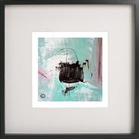 Black Framed Print with Abstract Art By Artist Sarah Jane - On the Move VIc