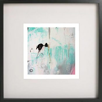 Black Framed Print with Abstract Art By Artist Sarah Jane - On the Move X