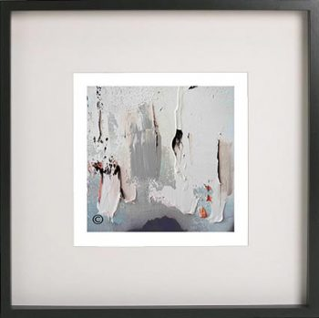 Black Framed Print with Abstract Art By Artist Sarah Jane - On the Move XIIIa