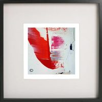 Black Framed Print with Abstract Art By Artist Sarah Jane - On the Move XX