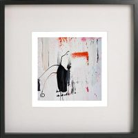 Black Framed Print with Abstract Art By Artist Sarah Jane - On the Move XXIX
