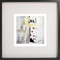 Black Framed Print with Abstract Art By Artist Sarah Jane - On the Move XXXI