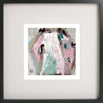 Black Framed Print with Abstract Art By Artist Sarah Jane - One of US VIc