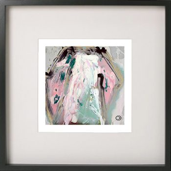 Black Framed Print with Abstract Art By Artist Sarah Jane - One of US VIc flipped horizontally