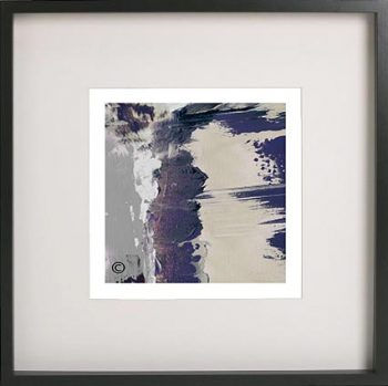 Black Framed Print with Abstract Art By Artist Sarah Jane - One of US XIIId