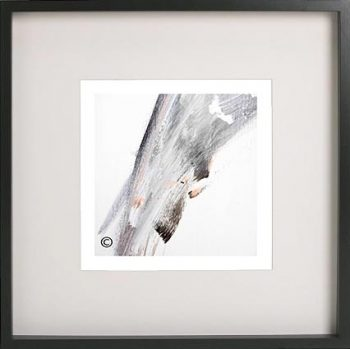Black Framed Print with Abstract Art By Artist Sarah Jane - Peach II