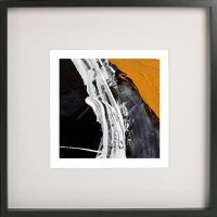 Black Framed Print with Abstract Art By Artist Sarah Jane - Playful Pair Vc