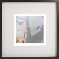 Black Framed Print with Abstract Art By Artist Sarah Jane - Reaching Out LIII