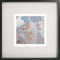 Black Framed Print with Abstract Art By Artist Sarah Jane - Reaching Out LIIf