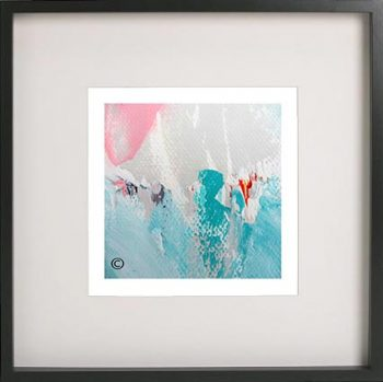 Black Framed Print with Abstract Art By Artist Sarah Jane - Reaching Out LV