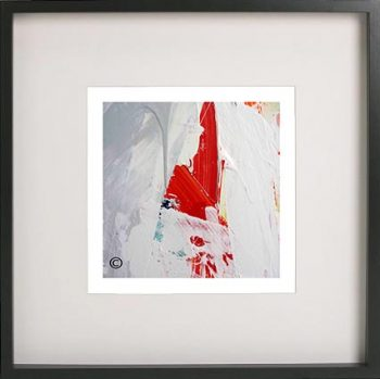 Black Framed Print with Abstract Art By Artist Sarah Jane - Reaching Out VII