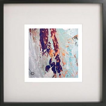 Black Framed Print with Abstract Art By Artist Sarah Jane - Reaching Out XVIIa