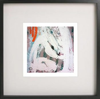 Black Framed Print with Abstract Art By Artist Sarah Jane - Reaching Out XXVa