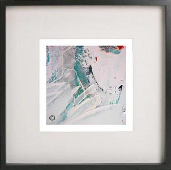 Black Framed Print with Abstract Art By Artist Sarah Jane - Reaching Out XXXII
