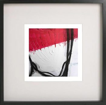 Black Framed Print with Abstract Art By Artist Sarah Jane - Regal II