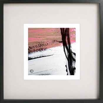 Black Framed Print with Abstract Art By Artist Sarah Jane - Regal IIIe