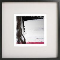 Black Framed Print with Abstract Art By Artist Sarah Jane - Regal VII
