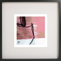 Black Framed Print with Abstract Art By Artist Sarah Jane - Regal Vb