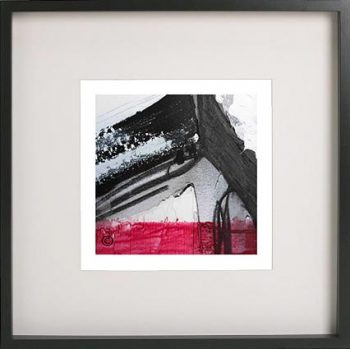 Black Framed Print with Abstract Art By Artist Sarah Jane - Regal X