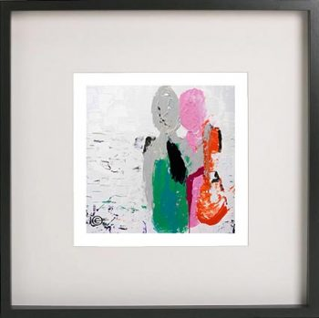 Black Framed Print with Abstract Art By Artist Sarah Jane - Relax I