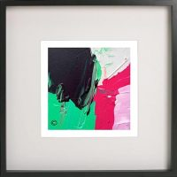 Black Framed Print with Abstract Art By Artist Sarah Jane - Relax III
