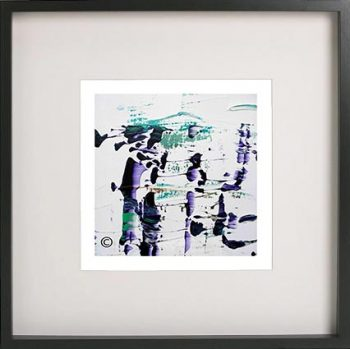 Black Framed Print with Abstract Art By Artist Sarah Jane - Relax XVI